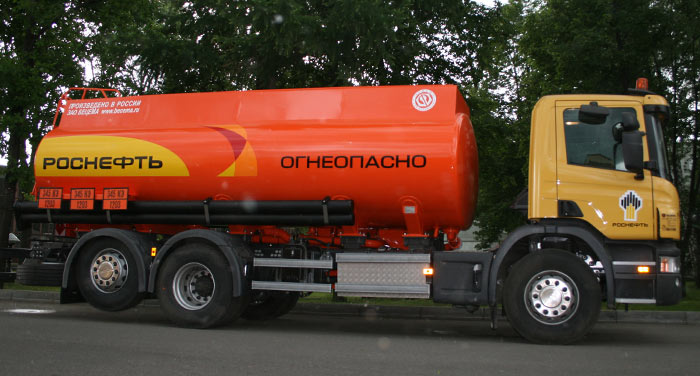 BCM-112.5 refueling truck for light petroleum products mounted on SCANIA 6x6 chassis, Al