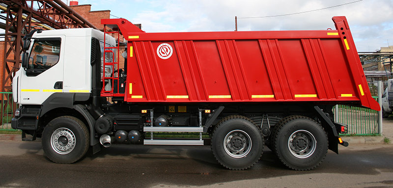 BCM-128N dump truck for inert materials on RENAULT Kerax 6x4 chassis