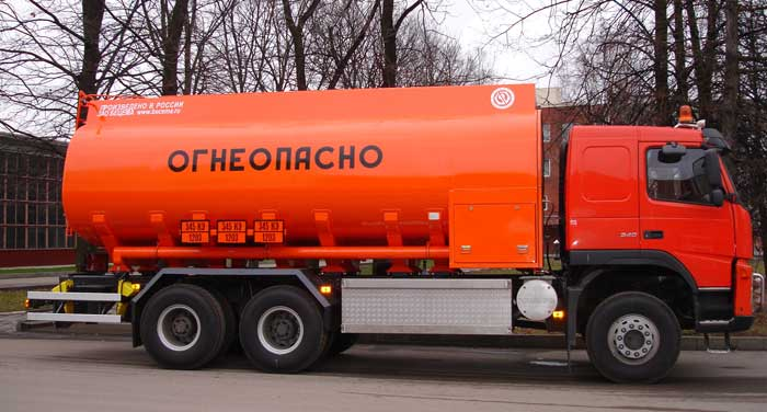 BCM-83 tanker truck for light petroleum products on VOLVO FM 6х4 chassis, 09G2S steel