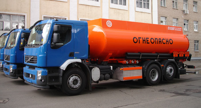 BCM-112.2 tanker truck for light petroleum products on VOLVO FE 6х2, chassis, 09G2S steel