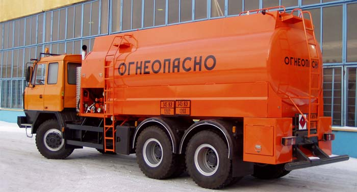 BCM-107 tanker truck for light petroleum products on TATRA 6x6 chassis, capacity of 12 m3