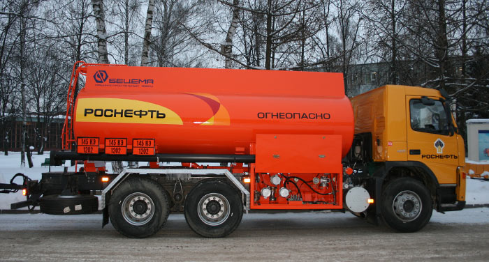 BCM-231 tanker truck for light petroleum products on MAZ-MAN 6x4 chassis, capacity of 15 m3