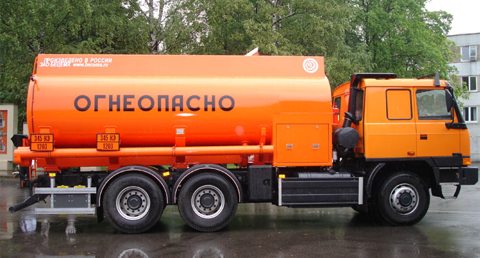 BCM-107.1 tanker truck for light petroleum products on TATRA 6x6 chassis, capacity of 12 m3