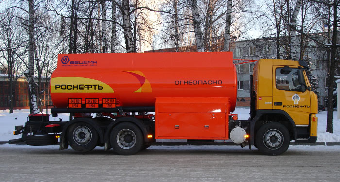 BCM-232 tanker truck for light petroleum products on VOLVO FM 6x2 chassis, Al