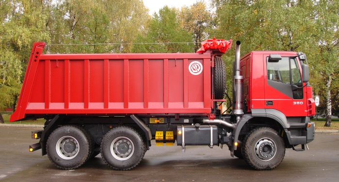 BCM-124.1 dump truck for inert materials on IVECO Trakker 6x4 chassis