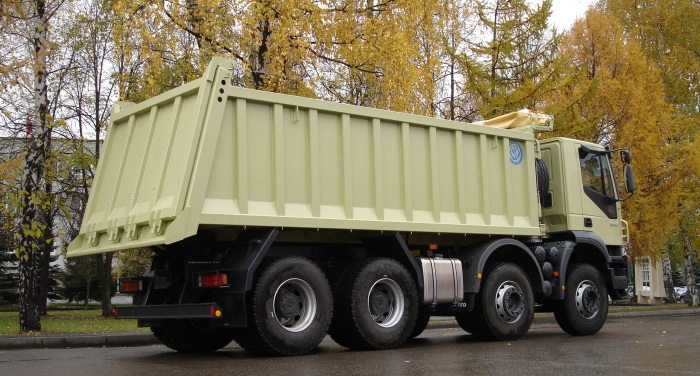 BCM-127.1 dump truck for inert materials on IVECO 8x4 chassis
