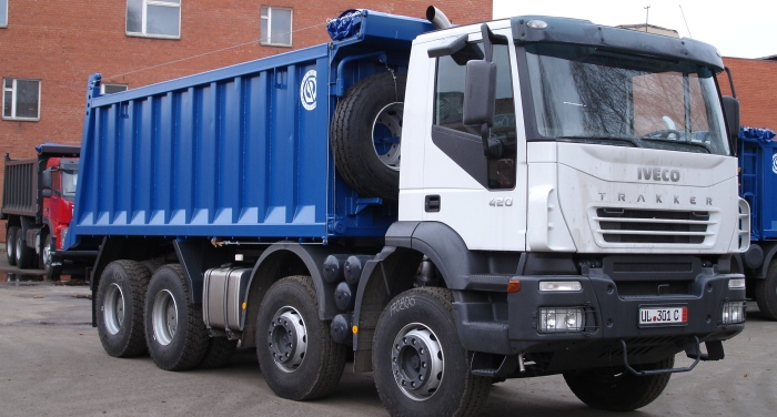 BCM-127 dump truck for inert materials on IVECO 8x4 chassis
