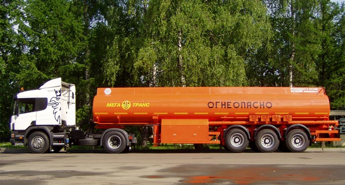 BCM-42.1(CH) tank semi-trailer for light petroleum products, 09G2S steel